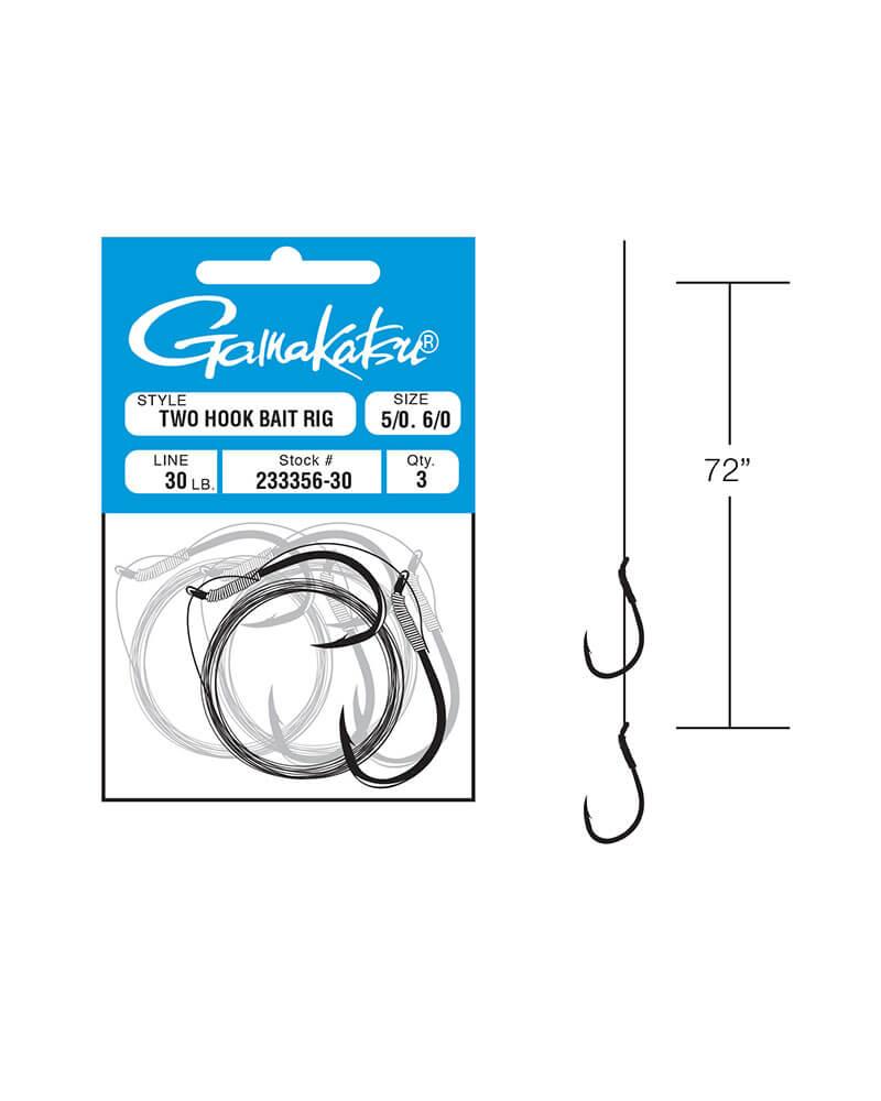 Two Hook Bait Rig - Line art