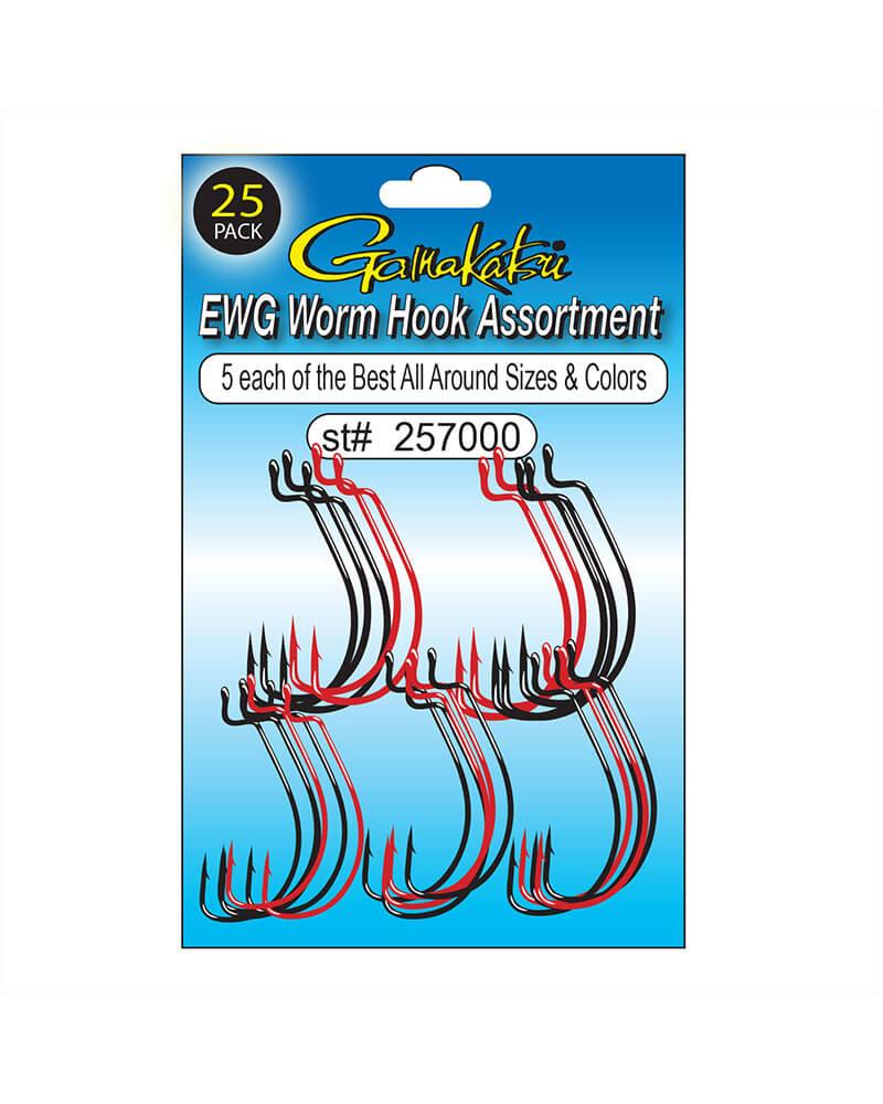 EWG Worm Hook Assortment - Line art