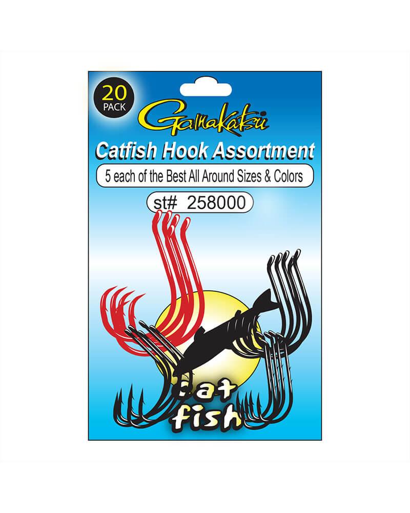Catfish Hook Assortment - Line art
