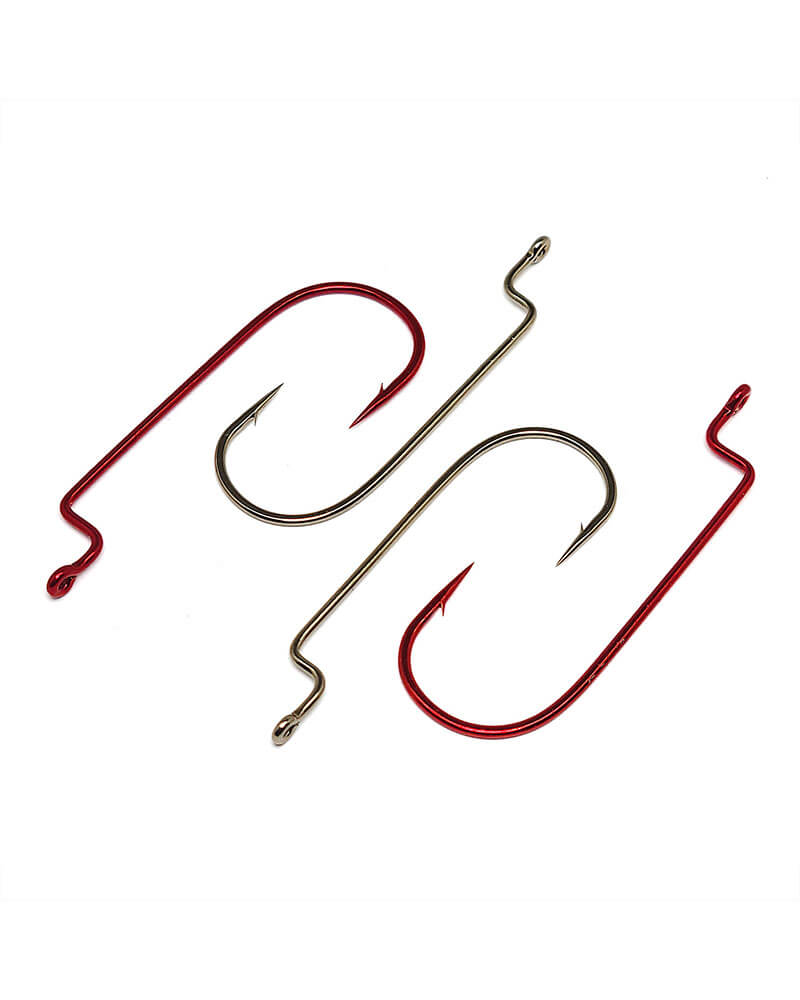 Worm Hooks, Offset Shank, Round Bend - Group
