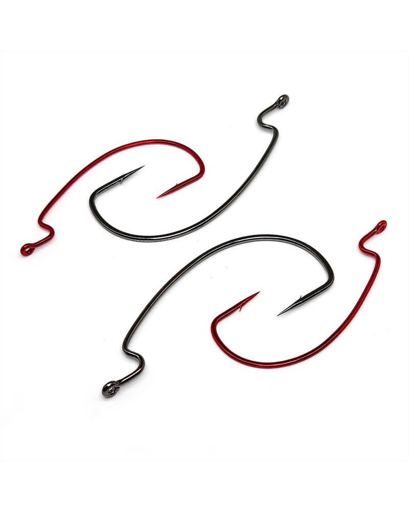 Worm Hooks, Offset Shank, EWG - Group