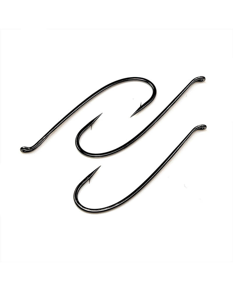 T10-6H Salmon Tapered Loop Up-Eye Fly Hook - Group