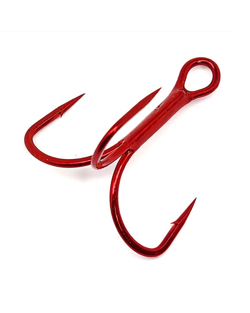 Treble Hooks, Extra Wide Gap (EWG) - Red