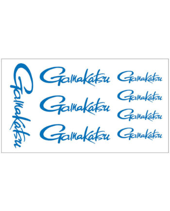Gamakatsu decal logo sheet - blue