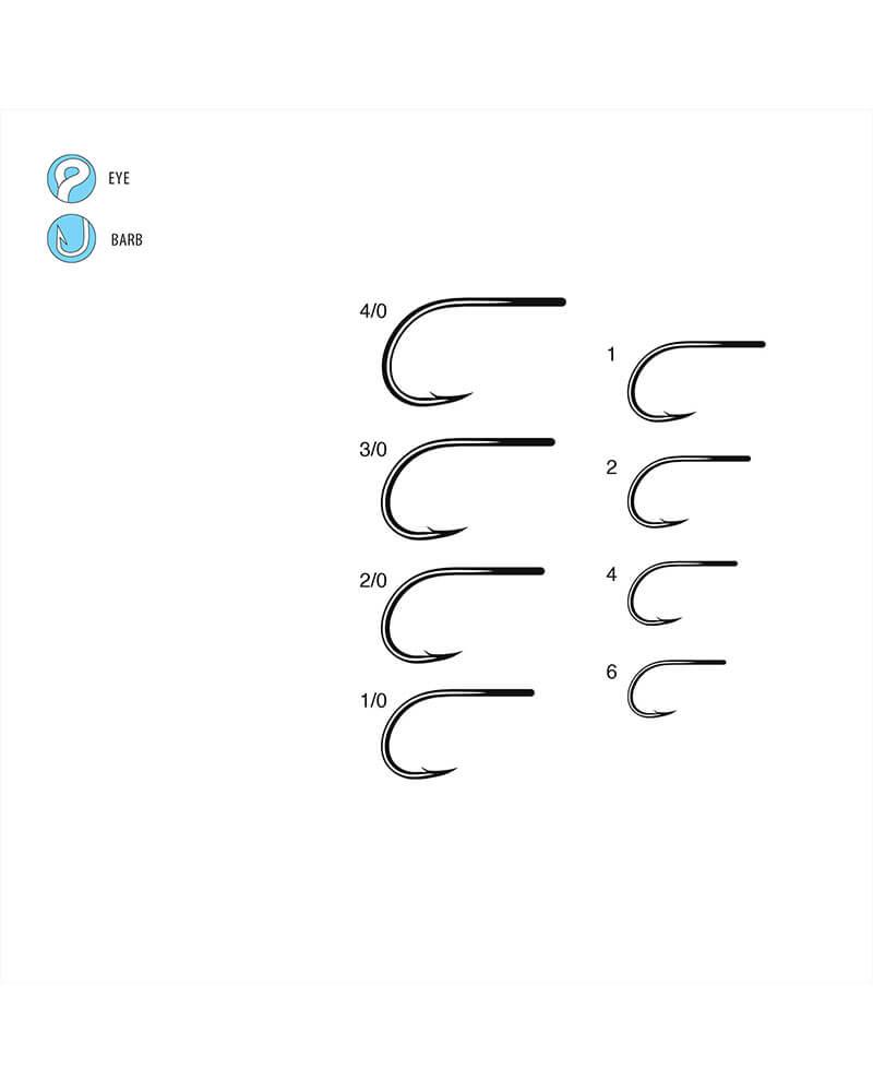 SL12-S 1x Short • Big Game, Wide Gap Fly Hook - Line Art