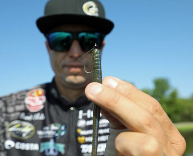Brent Ehrler showing G-Finesse Weedless Stinger
